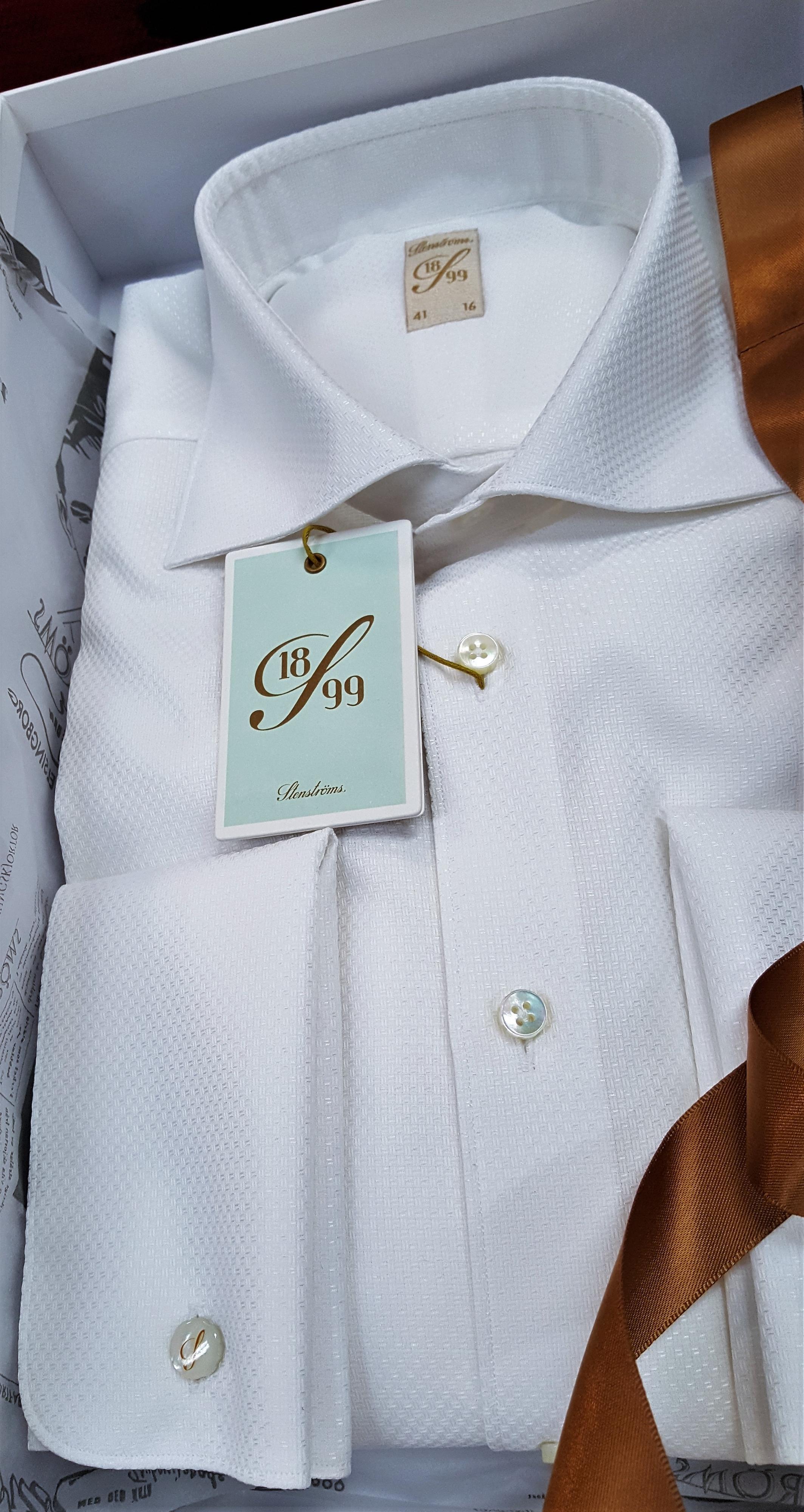 Miesten pukeutuminen valkoinen kauluspaita Stenströms 3 ... 791a513810