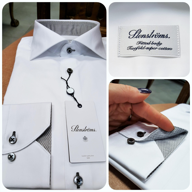 Miesten pukeutuminen valkoinen kauluspaita Stenströms 5 ... 071c3c7354